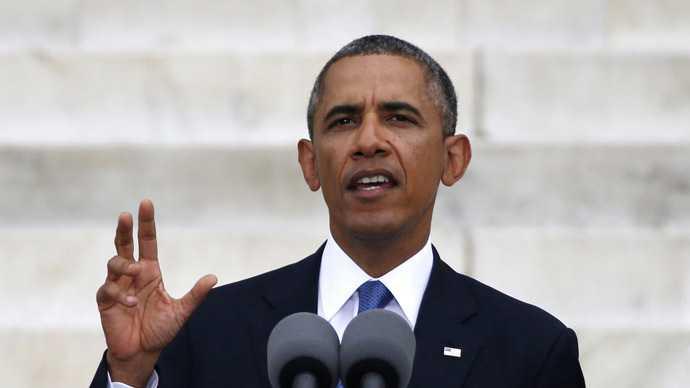 Tổng thống Barack Obama phát biểu bên ngoài Nhà Trắng