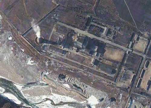 Vị trí lò hạt nhân Yongbyon - Ảnh: Reuters