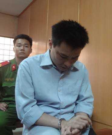 Bị cáo Nguyễn Quang Tâm tại phiên tòa