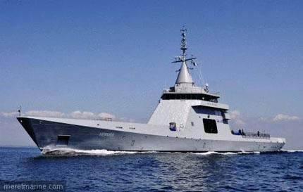 Tuần dương hạm L'Adroit tới Cảng Hải Phòng. (Ảnh internet)