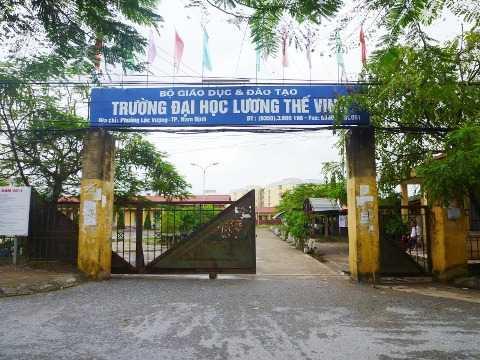 ĐH Dân lập Lương Thế Vinh (Nam Định) hiện còn nợ hàng chục tỷ đồng