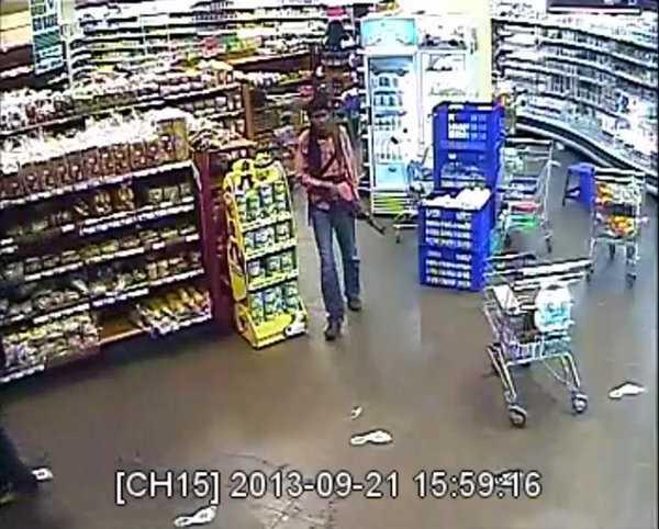 Hình ảnh một tay súng xuất hiện trong clip