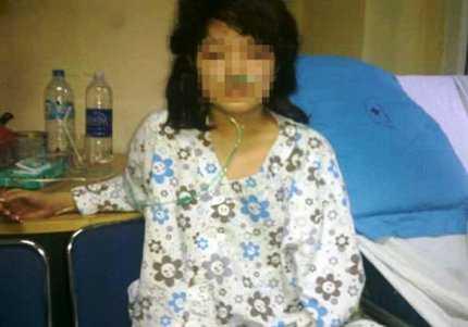 Chị Nga đang điều trị tại bệnh viện. Ảnh: Đất Việt