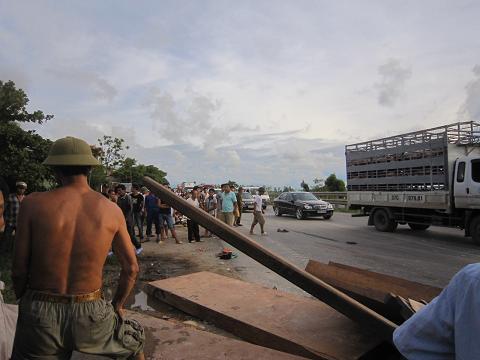 Hiện trường nơi xảy ra vụ tai nạn - Ảnh: CTV