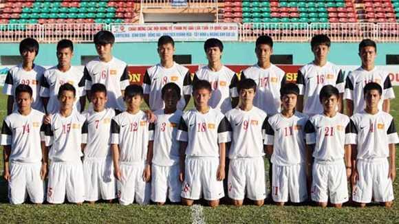 Các học viên khóa 1 của Học viện HAGL Arsenal JMG (Ảnh: Trần Minh)