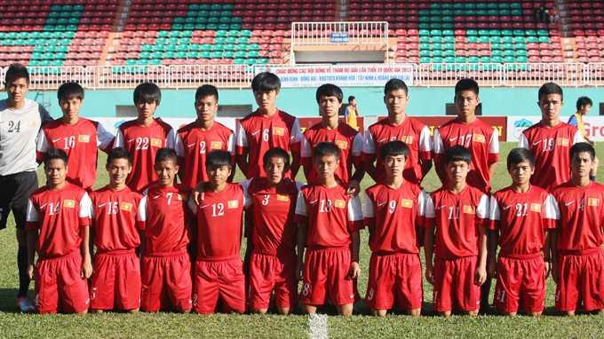 Các học viên khóa 1 của Học viện HAGL Arsenal JMG
