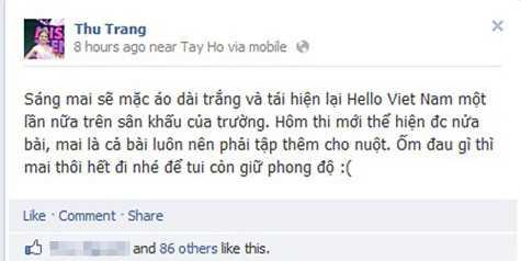 Chia sẻ của Thu Trang về dự định trong ngày đầu tiên trở lại trường vào năm mới.