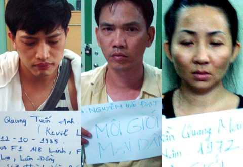 Một số bị can trong đường dây mại dâm nghìn USD mà Mỹ Xuân góp mặt.