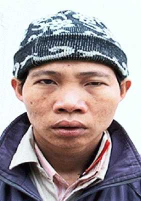 Hà Văn Phương tại cơ quan công an