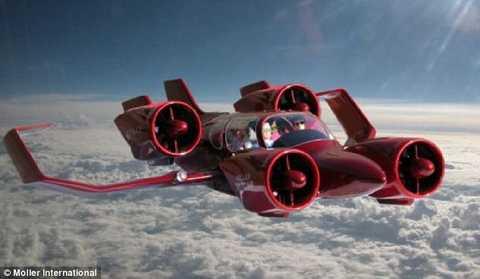 SkyCar khi ở trên không trung