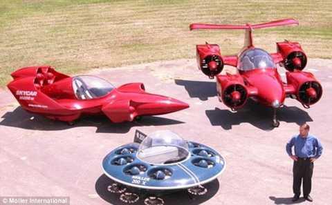 SkyCar bên cạnh một số mô hình ô tô bay khác