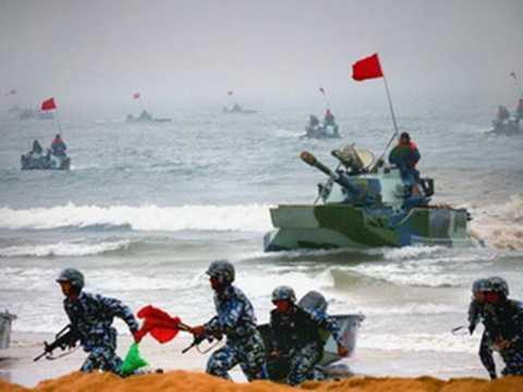 Một cuộc tập trận của quân đội Trung Quốc
