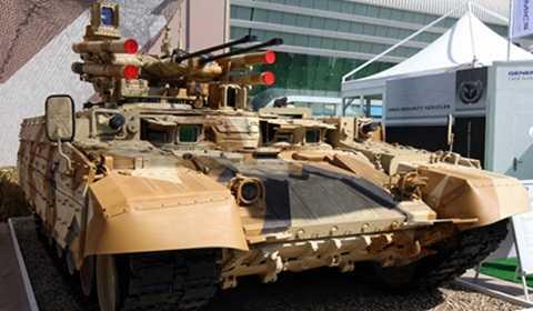 Terminator của Nga - xe chiến đấu yểm trợ tăng - Ảnh: Tiếng nói nước Nga