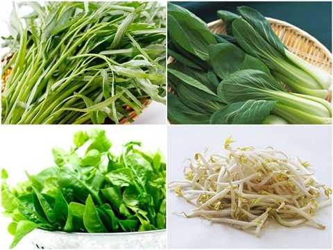 Là những loại rau quen thuộc trong bữa ăn hàng ngày, bán nhiều tại các hàng chợ với mức giá rẻ, vài nghìn đồng/bó, rau muống, rau cải, mồng tơi và giá đỗ là một trong số những loạt rau được liệt vào danh sách