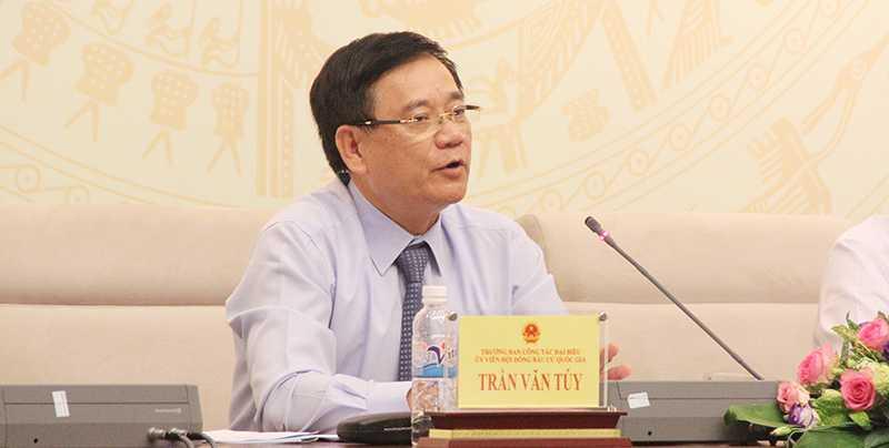 Ông Trần Văn Tuý – Trưởng Ban công tác đại biểu (Ảnh: Phạm Thịnh)