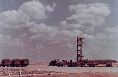 Tên lửa R5 tại khu vực phóng