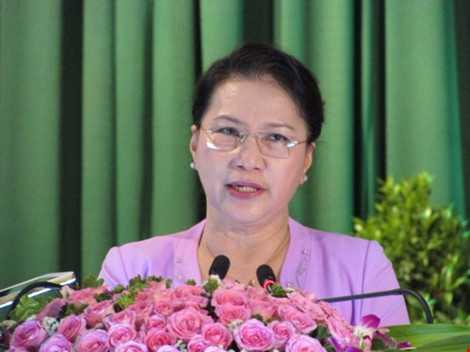 Chủ tịch QH cho biết nếu trúng cử sẽ cùng các ĐBQH  góp phần xây dựng TP Cần Thơ đạt được các mục tiêu đề ra.