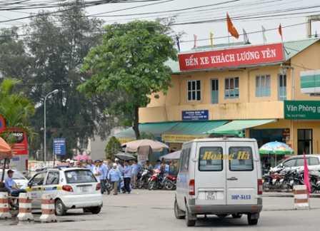 Bến xe Lương Yên. Ảnh: VTC
