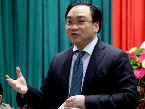 Bí thư thành ủy Hà Nội Hoàng Trung Hải. Ảnh: Vnexpress.