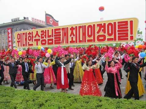 Biển người đổ về quảng trường Kim Nhật Thành