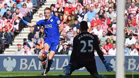 Vardy vừa ghi cú đúp vào lưới Sunderland cuối tuần trước