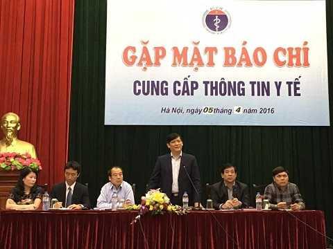 Thứ trưởng Nguyễn Thanh Long phát biểu tại họp báo