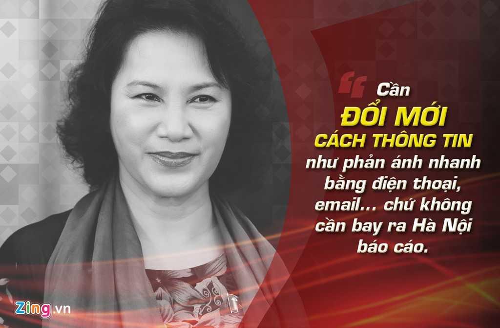 Bộ trưởng Bộ LĐ-TB&XH Nguyễn Thị Kim Ngân phát biểu trong hội nghị triển khai công tác ngành LĐ-TB&XH ngày 28/12/2008. Bà đề nghị các giám đốc sở cần đổi mới cách thông tin như phản ảnh nhanh bằng điện thoại, thư điện tử