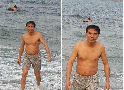 Chủ tịch UBND thị xã Cửa Lò vẫn tắm biển hàng ngày