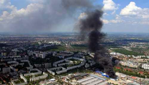 Hiện trường nhìn từ trên cao. Ảnh: Polizei Berlin