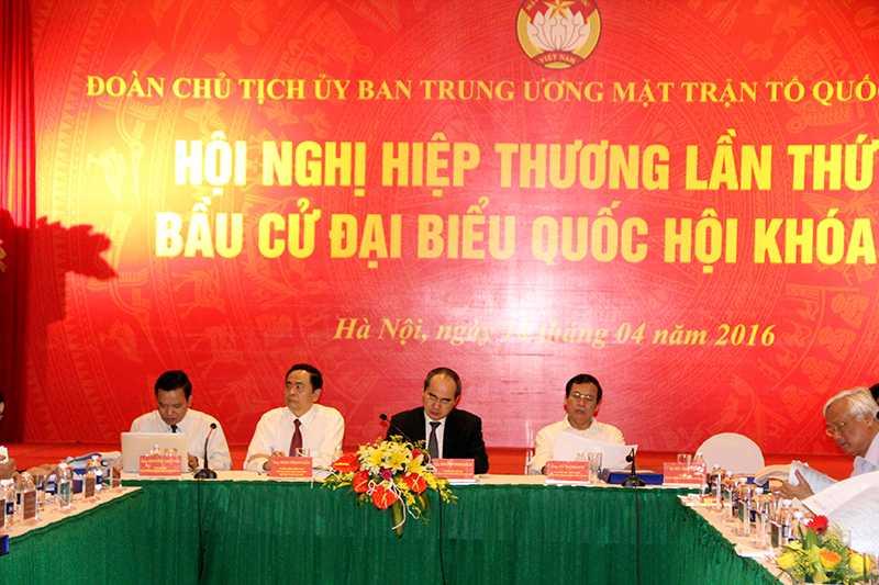 Trung ương Mặt trận Tổ quốc Việt Nam đã tổ chức Hội nghị hiệp thương lần thứ 3 bầu cử đại biểu Quốc hội khóa XIV (Ảnh: Phạm Thịnh)