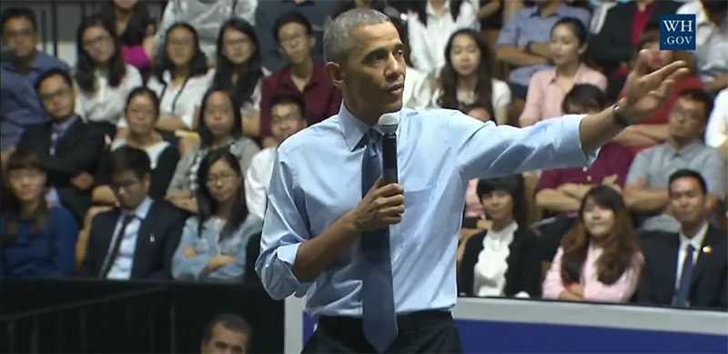 Tổng thống Obama chia sẻ với các thủ lĩnh trẻ Việt Nam