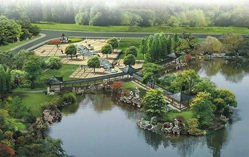 Phối cảnh công viên hồ điều hòa Mai Dịch