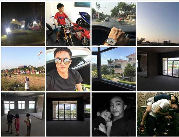 Gần đây, anh thường xuyên khoe những giây phút hạnh phúc của mình và con trai Subeo trên Facebook.