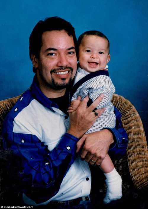 Tiamat khi còn là Richard Fernandez và con trai vào năm 1997.