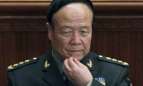 Thượng tướng Quách Bá Hùng, cựu phó chủ tịch   Quân ủy trung ương Trung Quốc, bị điều tra các hành vi tham nhũng từ   tháng 4 năm ngoái. Ảnh: AP