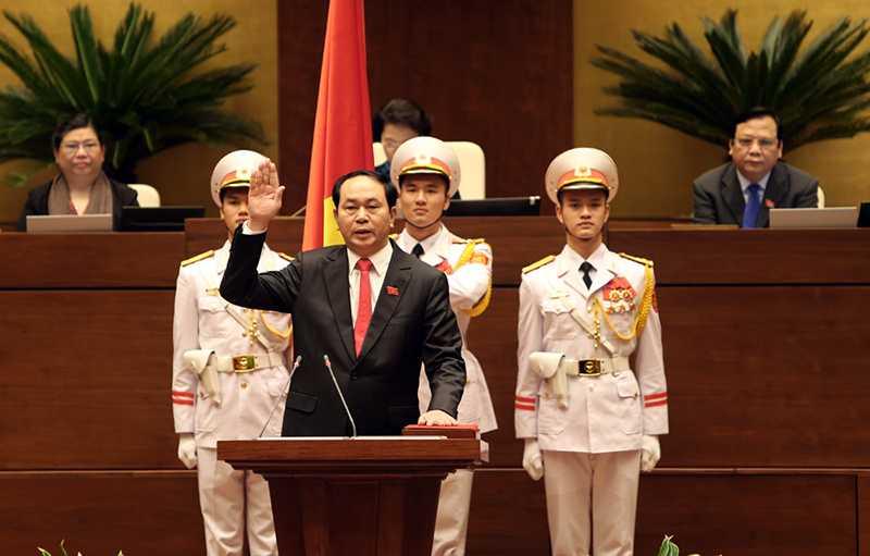 Chủ tịch nước Trần Đại Quang tuyên thệ trước Quốc hội