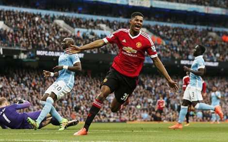 Rashford ghi bàn giúp MU thắng trận derby Manchester then chốt