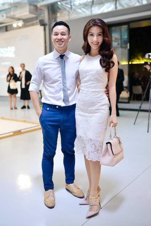 Diễm My 9x sánh đôi bên hôn phu của NTK Adrian Anh Tuấn.