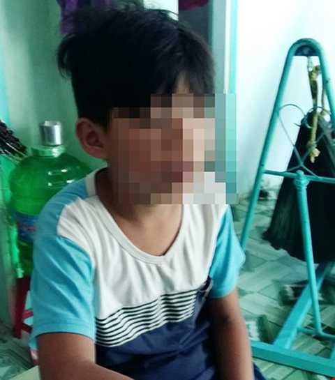Cháu Hùng bị cho là bắt cóc trưa 1/4. Ảnh: A.Khánh
