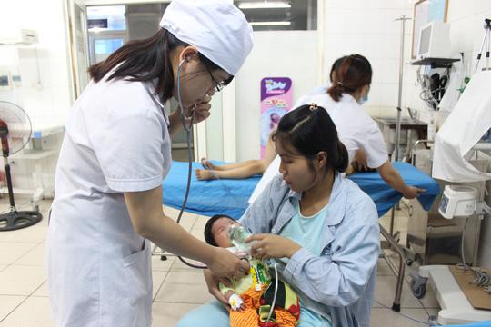 Điều trị cho bệnh nhi Đặng Ngọc H.