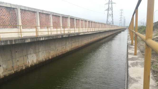 Hệ thống kênh mương xử lý nước thải của Formosa - Ảnh: Infonet