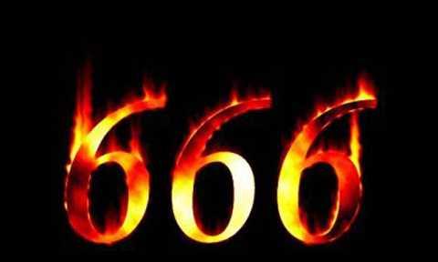 Đối với người phương Tây, họ rất sợ   con số 666 vì họ cho đó là dấu ấn kinh khủng của quỷ Sa-tăng. Theo đó,   con số này được đề cập trong quyển cuối cùng của bộ kinh Tân Ước hay còn   gọi là sách Khải huyền. Nó được coi là dấu ấn hiện thân của quỷ   Sa-tăng. Số 666 còn được cho là hiện thân của con rắn thuộc quỷ Sa-tăng –   loài vật đã dụ dỗ Adam và Eva ăn trái cấm. Vì vậy, con số này được cho   là biểu tượng của sự cám dỗ, khiến con người lầm đường lạc lối và phạm   phải những sai lầm không thể sửa chữa.