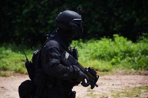 Lực lượng đặc nhiệm ADMM+ được trang bị rất hiện đạ