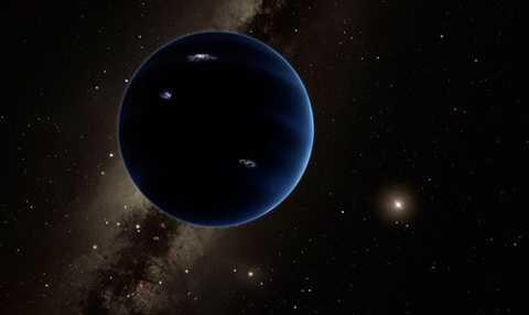 Hành tinh thứ 9 có kích thước bằng sao Hải Vương, khối lượng gấp 10 lần Trái Đất. Ảnh minh họa.