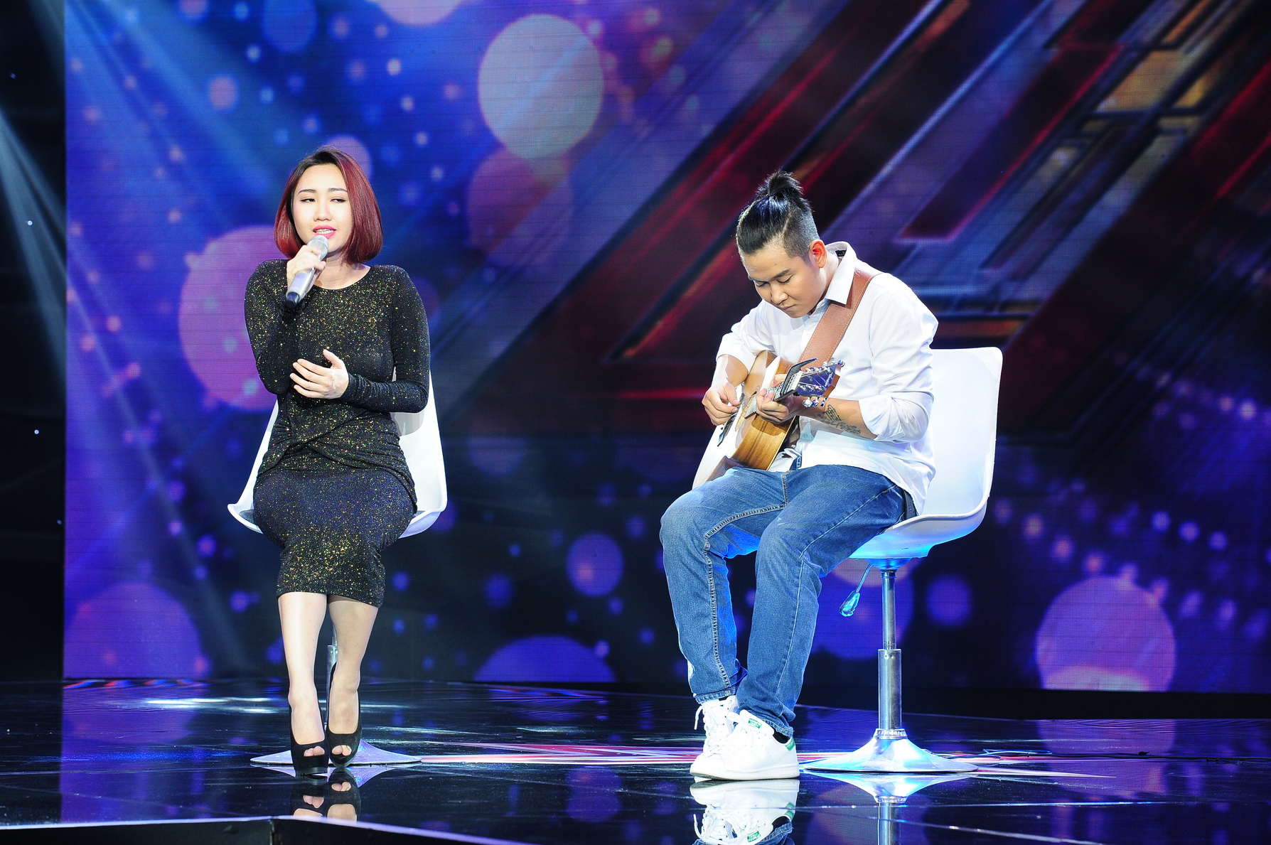 Cô nàng Thái Vân Như dự thi ca khúc Tears In Heaven với giọng hát tiềm năng cùng phong thái biểu diễn tự tin.