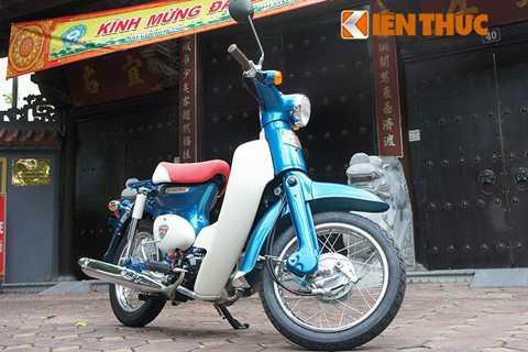 Được nhập khẩu không chính hãng từ Nhật   Bản về Việt Nam, đây là mẫu Honda Super Cub 50 phiên bản đặc biệt. Chiếc   xe sở hữu màu xanh đẹp mắt và được sản xuất giới hạn dành riêng cho thị   trường Nhật Bản.