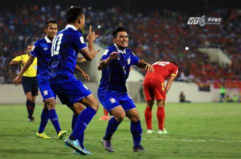 Thái Lan thắng dễ Việt Nam 3-0 ở Mỹ Đình (Ảnh: Phạm Thành)