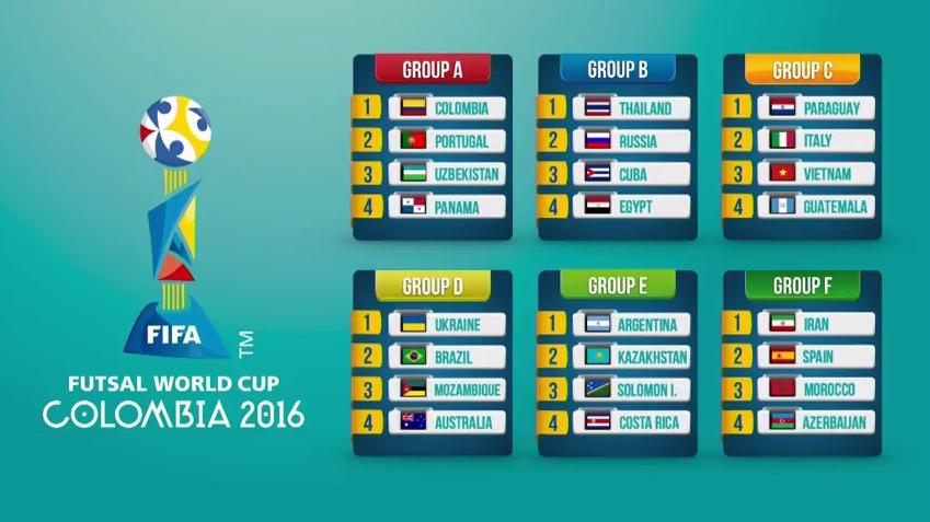 Kết quả bốc thăm World Cup Futsal