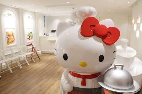 Nhà hàng Hello Kitty đầu tiên trên thế giới chính thức khai trương tại Thượng Hải, Trung Quốc. Ảnh Shanghaiist
