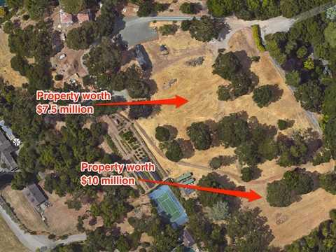 Nữ tỷ phú góa bụa này cũng đang sở hữu 2 khối bất động sản ở Woodside có giá khoảng 7.5 triệu USD và 10 triệu USD.